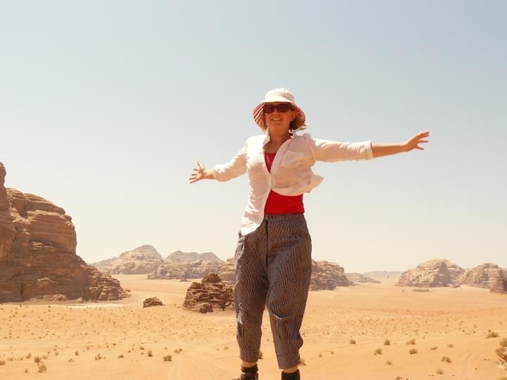 bedouin tour Wadi Rum Jordan female traveller