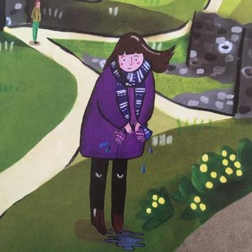 childrens book illustration, artist Alison Soya, Coo Clayton, Scotland