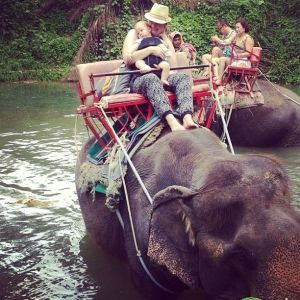 mother and son in Thailand
