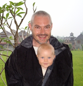 father and son in Bali