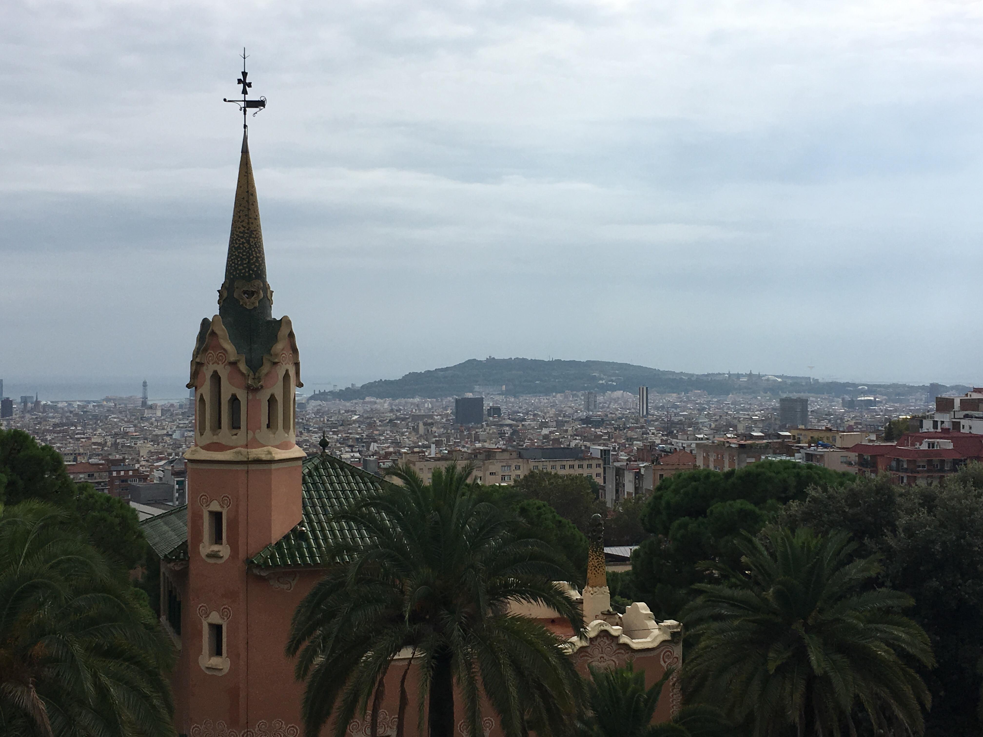 Barcelona as viewed from Park Güell