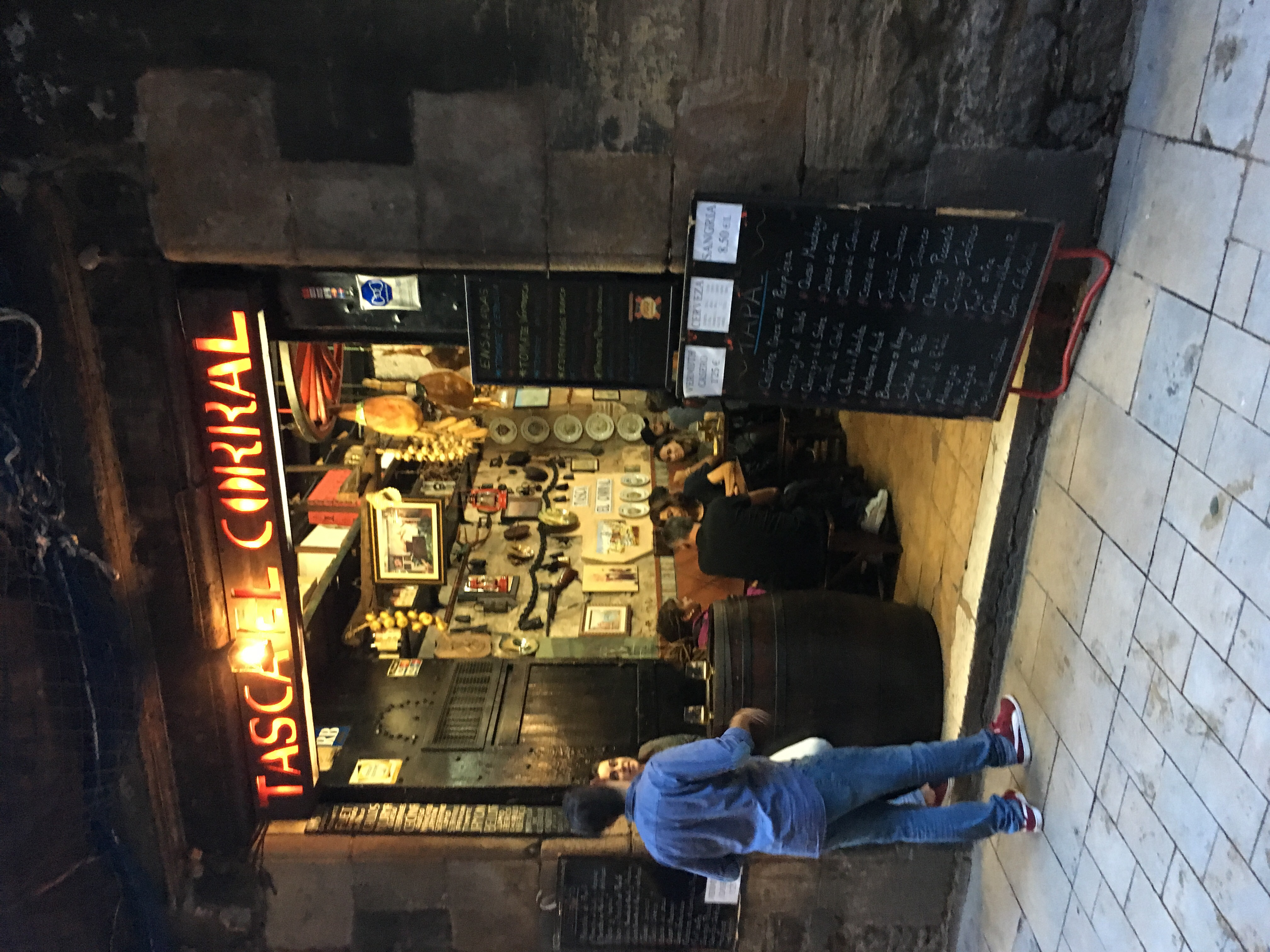 Outside view of a tapas bar in Barcelona