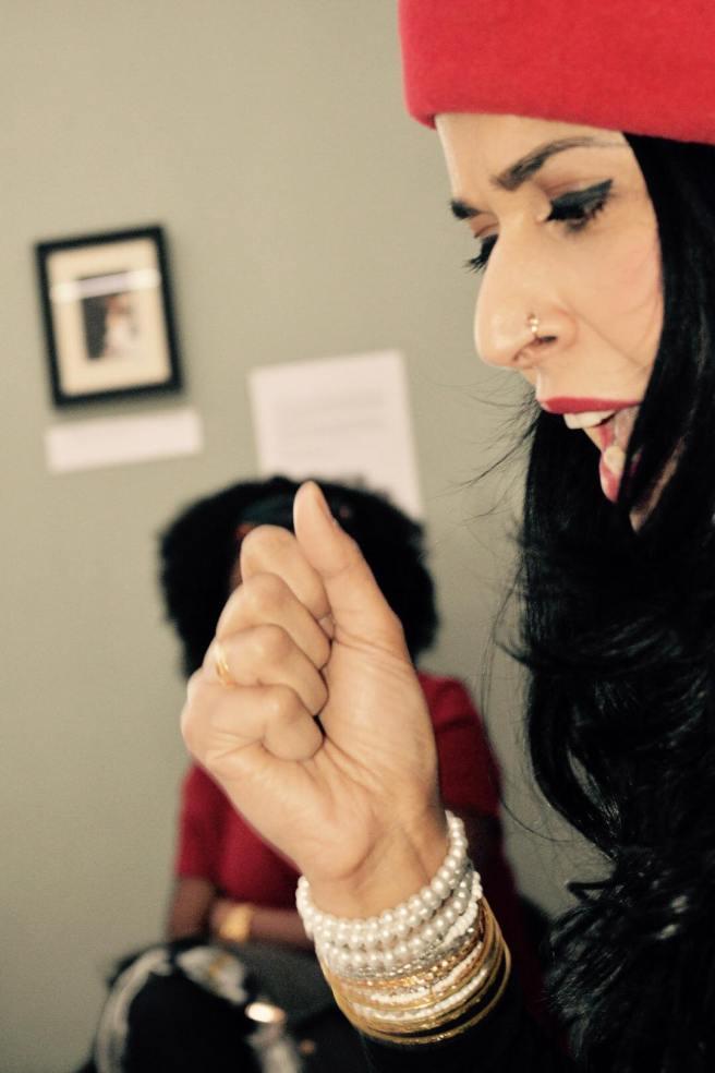 Susannah Tigerlili reading 'Indian Mother' photo credit Andrea Balzarini