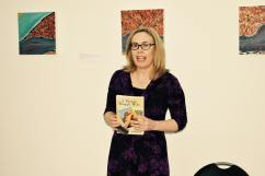 Anne Hamilton speaking about her book A Blond Bengali Wife photo credit Andrea Balzarini